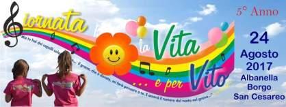 Logo arcobaleno Giornata per la Vita e per Vito