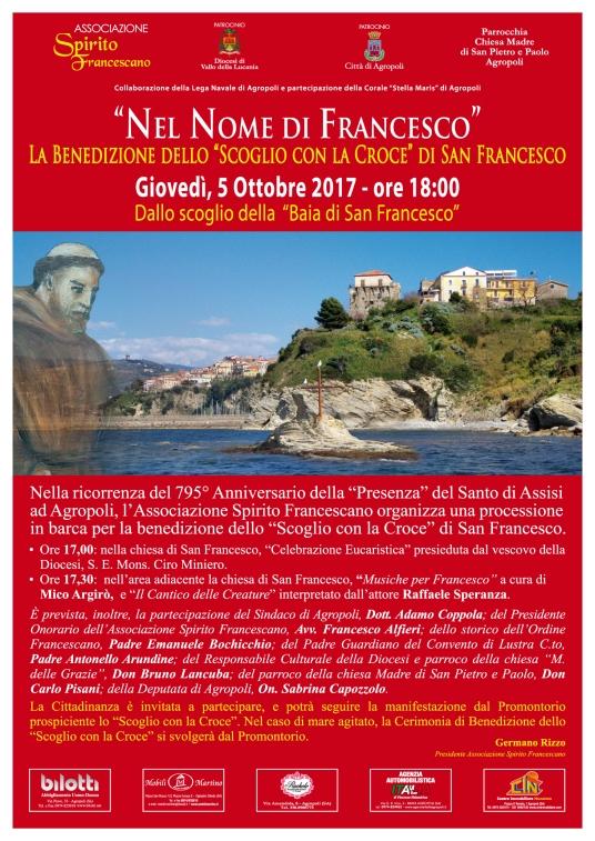 Manifesto 70x100 - Benedizione Scoglio San Francesco 2017