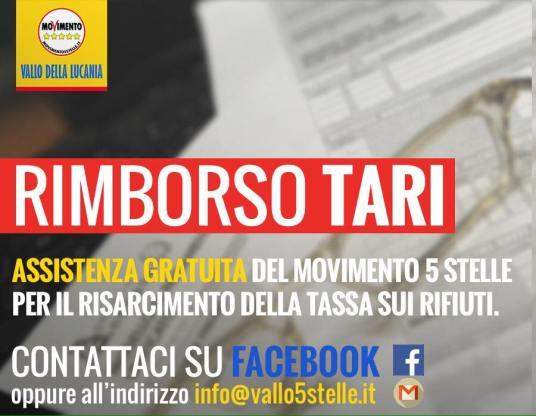 VALLO DELLA LUCANIA RIMBORSO TARI M5S