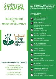 invito Parco Cilento presentazione Marchio