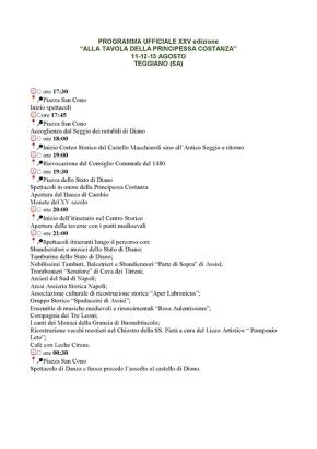 PROGRAMMA UFFICIALE XXV EDIZIONE
