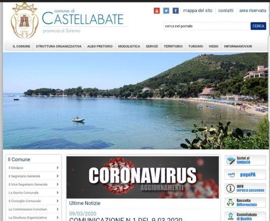 Sezione sito comunale Coronavirus